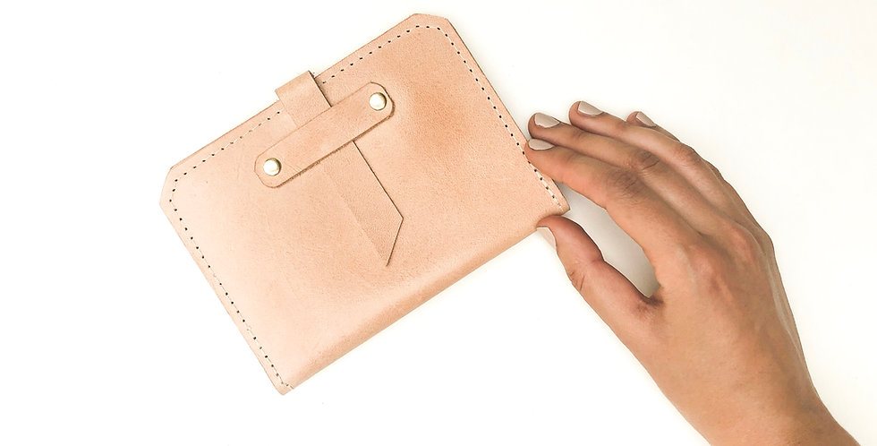 The Voyager - Passport Wallet - Natural Leather