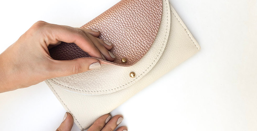 Wholesale | The Luna - Rose Gold & Cream Leather