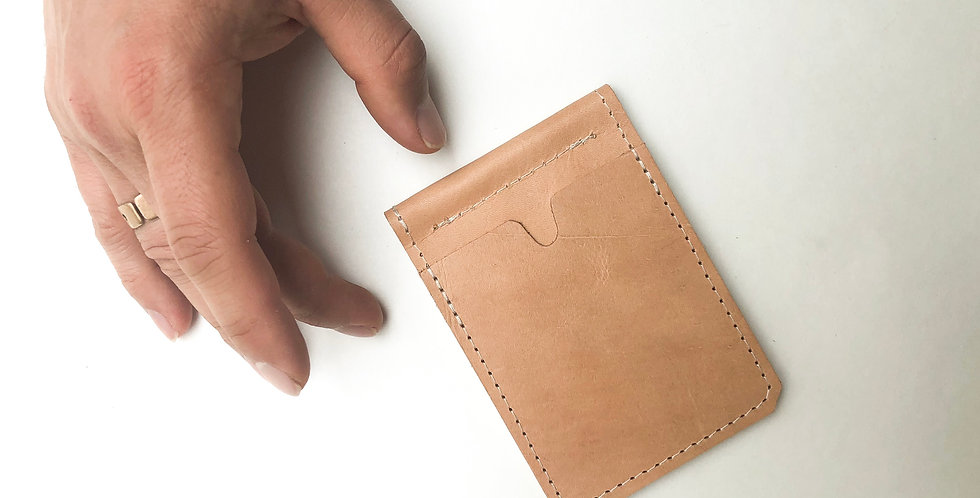 Wholesale | The Winston w/ Money Clip - Natural Leather