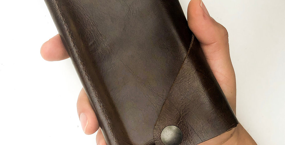 The Data Dave - SmartPhone Wallet - Espresso Brown