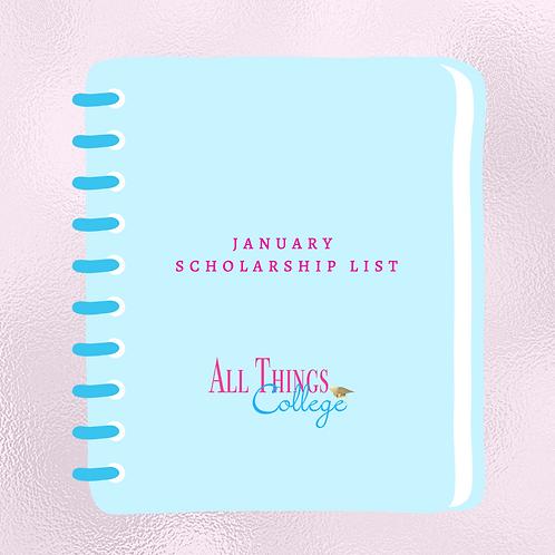 January Scholarship List