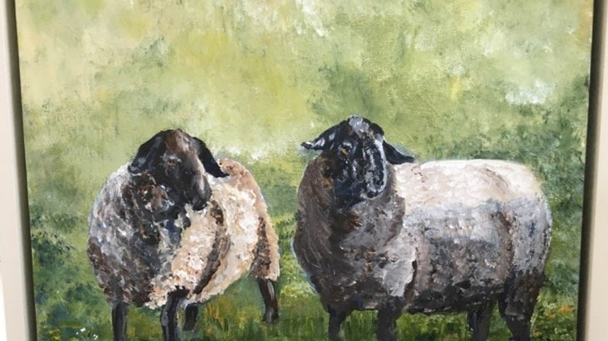 Suffolk Sheep- Painting