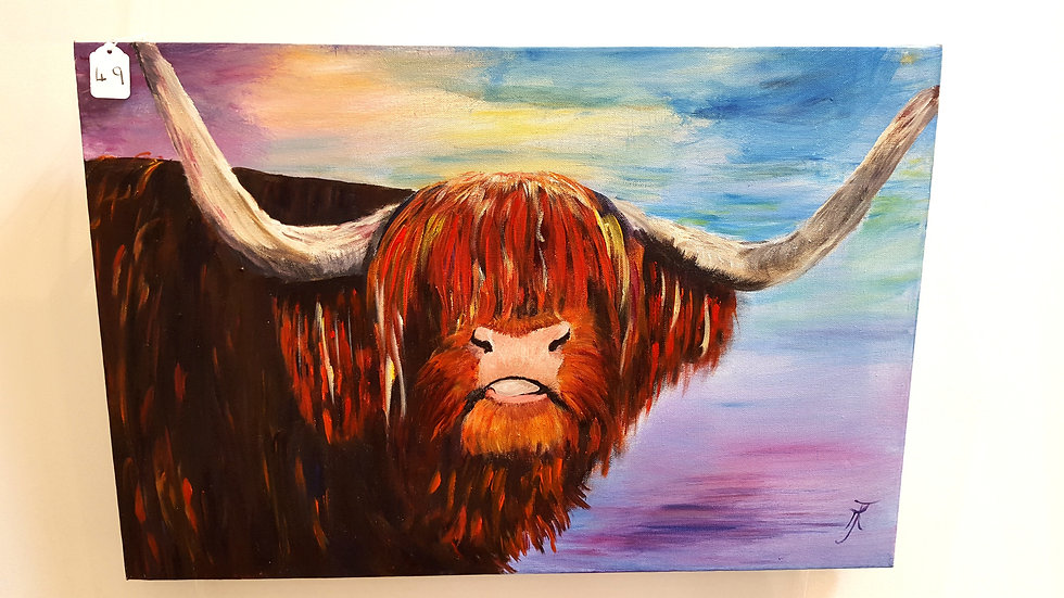 The Morning after the Highland Show- Painting