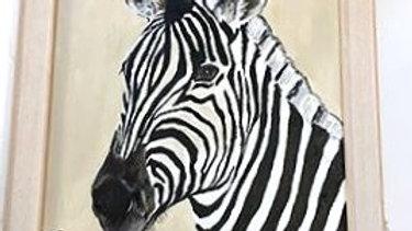 Zebra Head- Painting