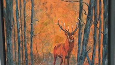 Harbledown Stag- Painting