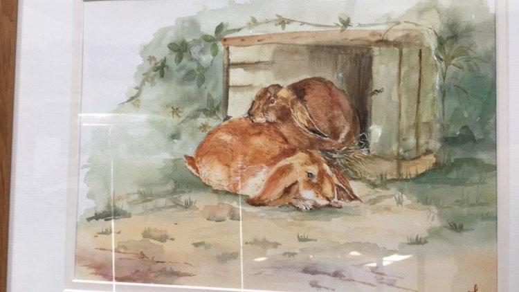 Rabbits-Paintings