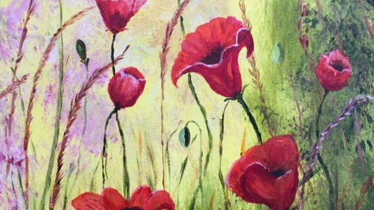 Summer Poppies- Painting
