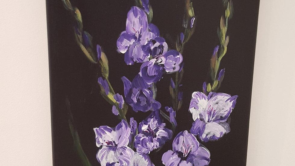 Lilac Gladioli- Painting