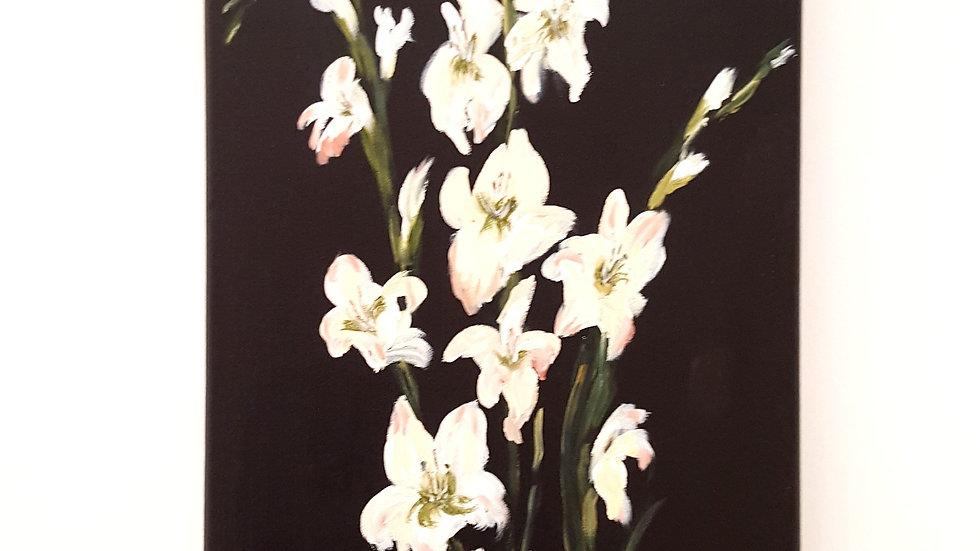 White Gladioli- Painting