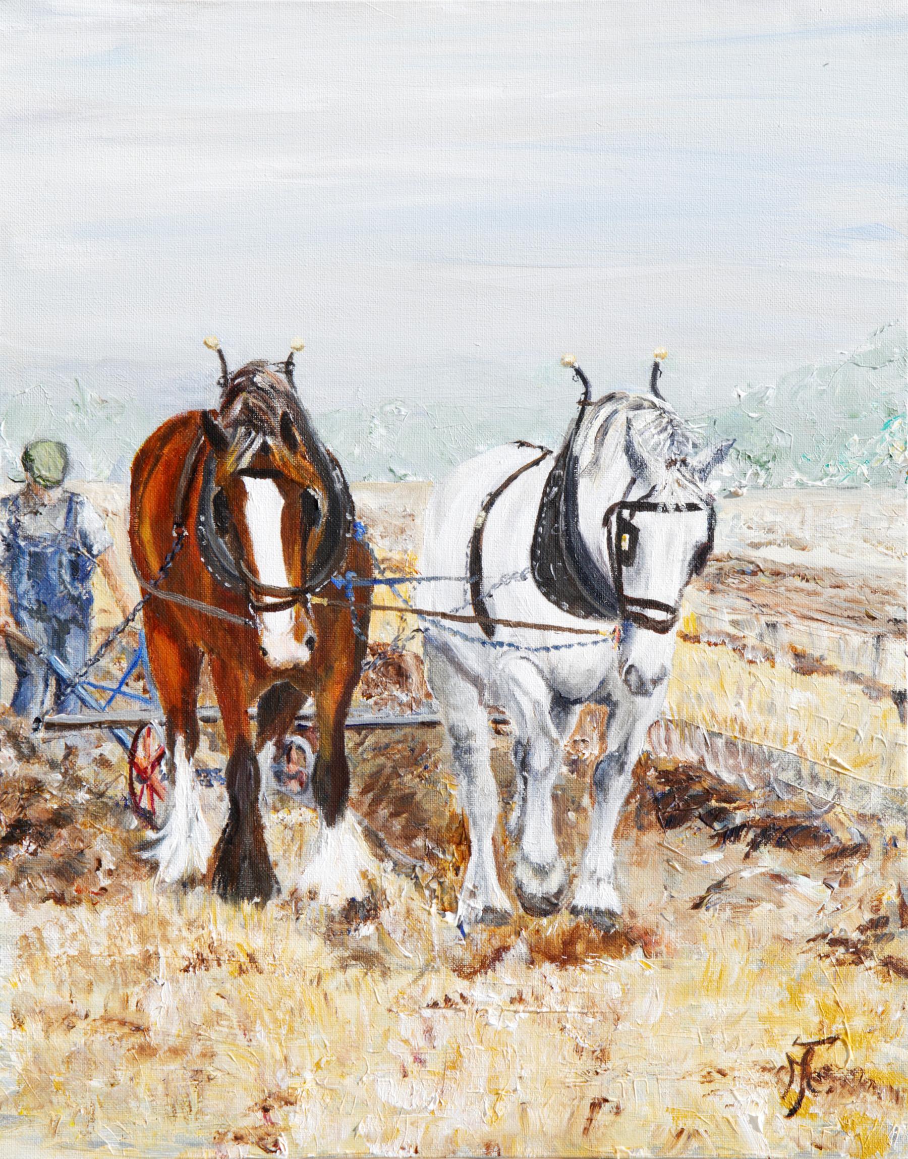 ploughing pair