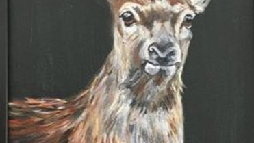 Red Doe- Painting