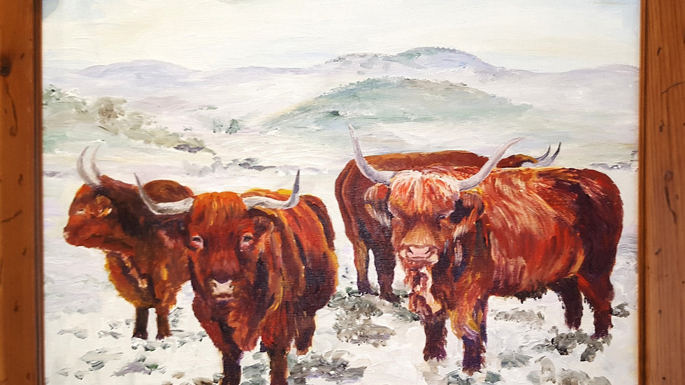 Highlands in the Snow- Painting