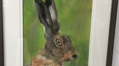 Startled Hare- Painting