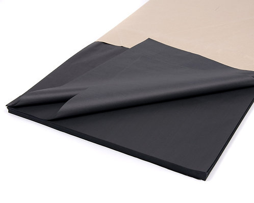 500mm x 750mm 17GSM Black Tissue Paper (480 sheets)