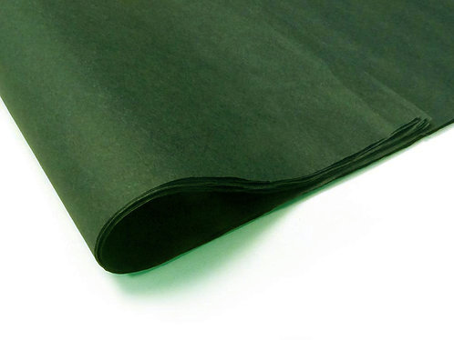500mm x 750mm 18GSM Dark Green Tissue Paper (480 sheets)