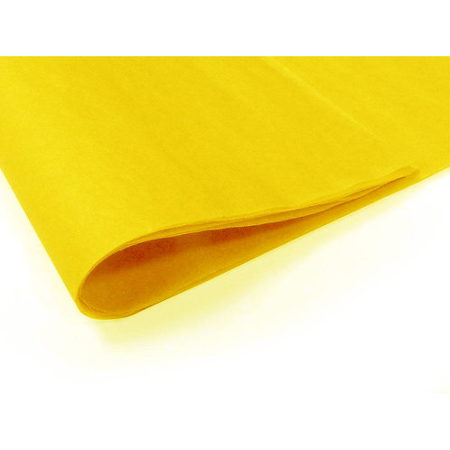 450mm x 700mm 17GSM Yellow Tissue Paper (480 sheets)
