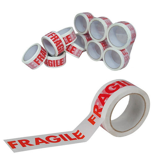 48 mm x 66 mtr Fragile printed low noise tape (36 qty)