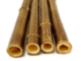 black bamboo poles