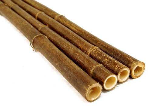 8ft (2.44m) 30-35mm diameter black bamboo poles. 10 poles per pack