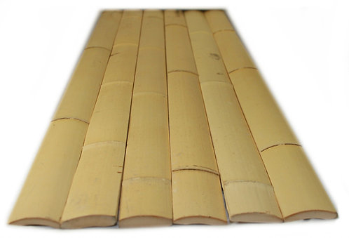 6ft (1.82m) 40-45mm width natural moso bamboo slats. 10 slats per pack.