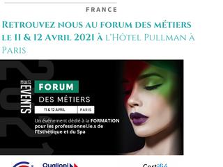 FORUM DES MÉTIERS 2021 : GRAND RENDEZ VOUS À L'HÔTEL PULLMAN À PARIS LE 11 & 12 AVRIL