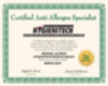 Hygienitech Training Certificate M Altma