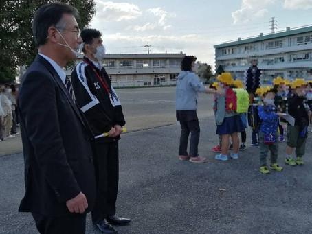 菁莪小学校にて通学路の安全対策や防犯対策についてお話しを伺いました。