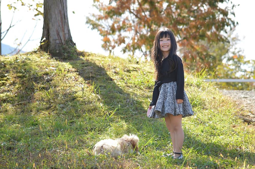 肥満になった犬と散歩