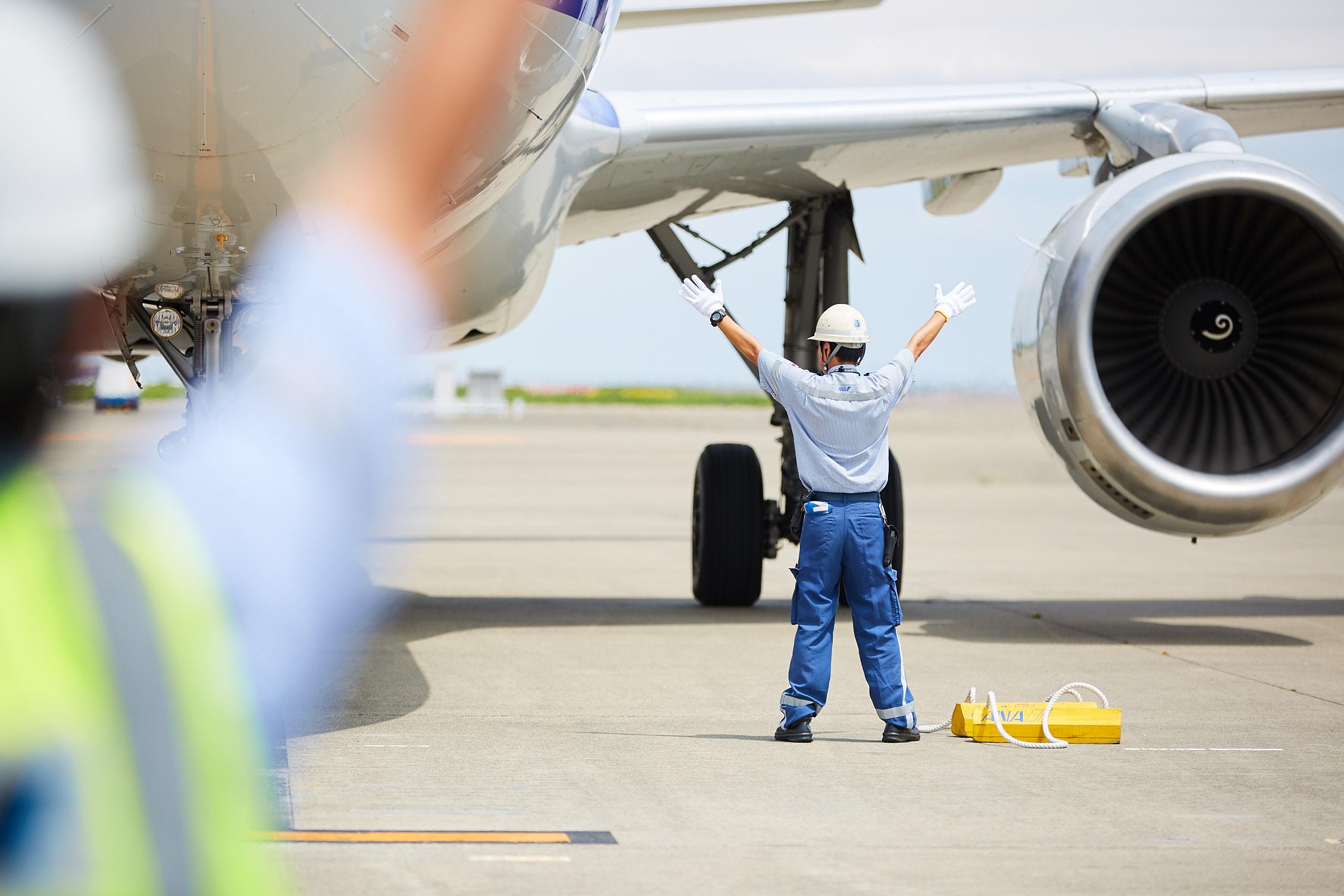 スターフライヤー便のランプハンドリング業務
