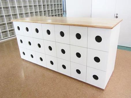 都内某保育園様のシューズボックスのオーダー家具製作