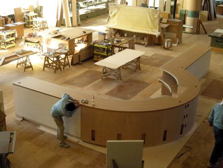 大型カウンターのオーダー家具製作