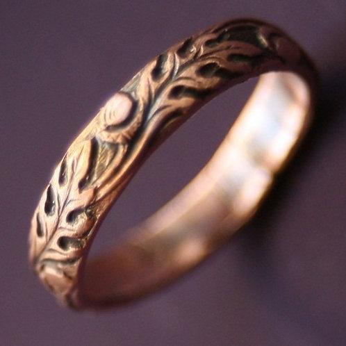 Copper Oak Ring