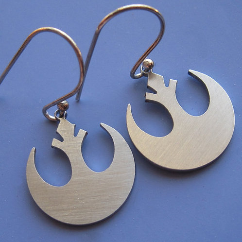 Small Star Wars Rebel Insignia Earrings