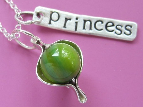 Princess and the Pea Peapod Necklace