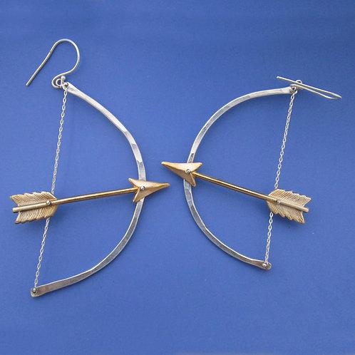 Diana Bow and Arrow Earrings