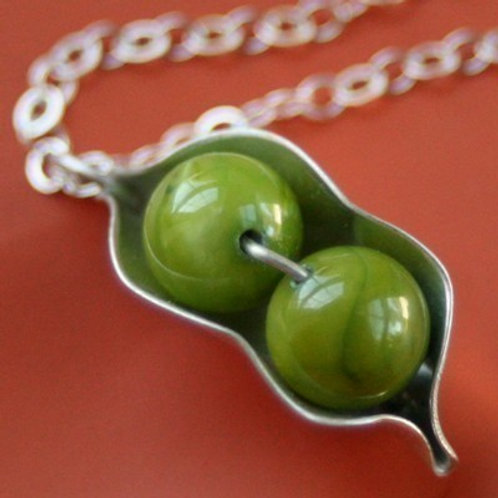 Two Peas Peapod Necklace