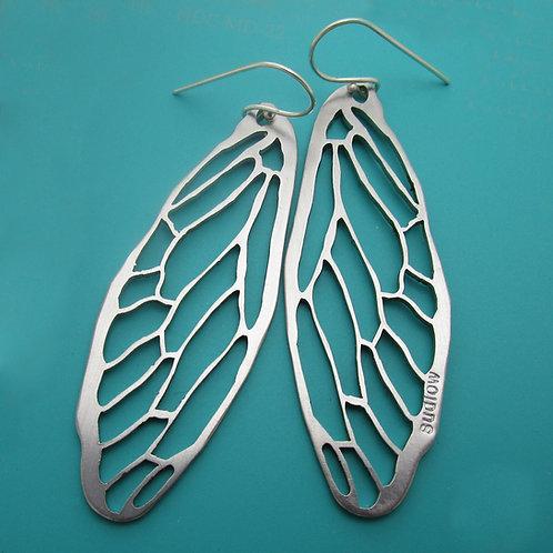 Silvery Cicada Earrings
