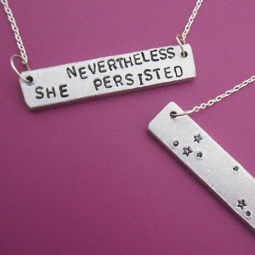Zodiac & Custom text Bar Necklace