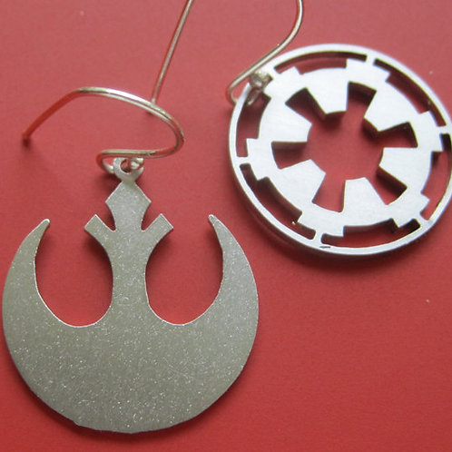 Star Wars Rebel & Imperial Insignia Earrings
