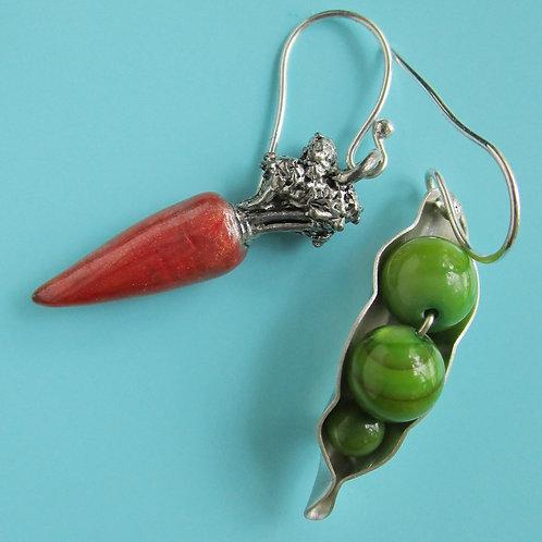 Peas & Carrots Earrings