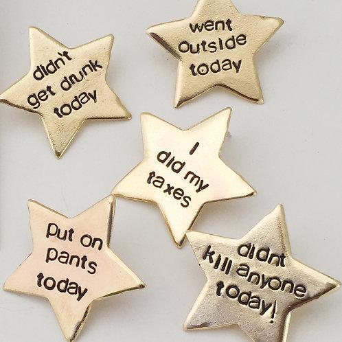 Adult Gold Star Pins
