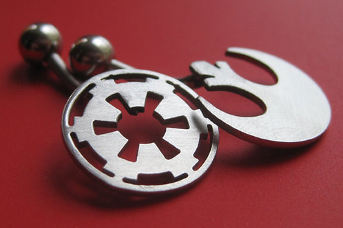 Star Wars Rebel or Imperial Belly Button Ring