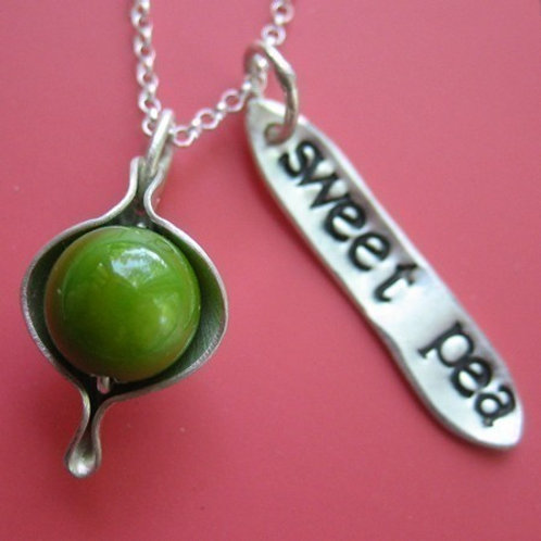Sweet Pea Peapod Necklace