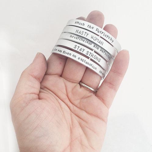 ACLU Donation Aluminum Cuff Bracelet
