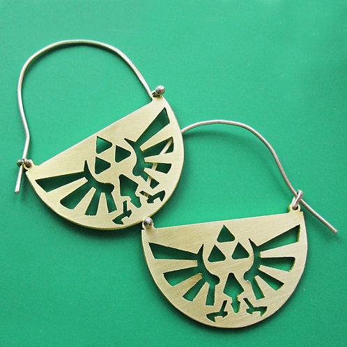 Legend of Zelda Triforce Hylian Crest Earrings