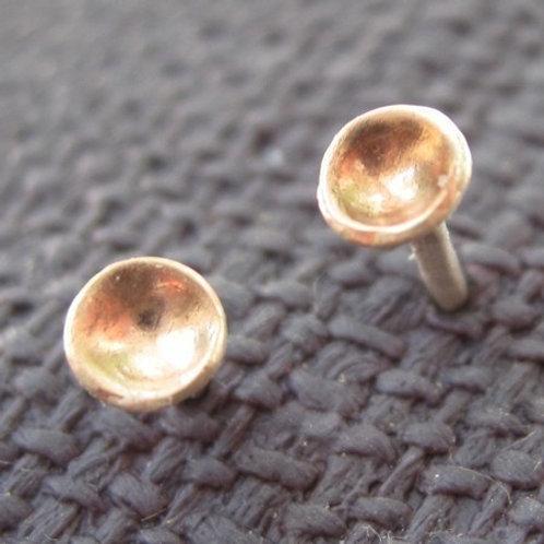 Dot of Rose Gold Stud Earrings
