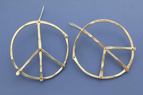Pinned Peace Sign Earrings