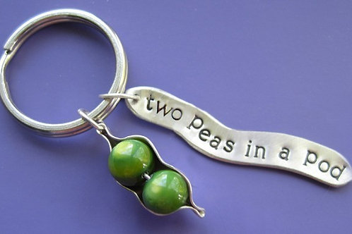 Two Peas in a Pod Keychain