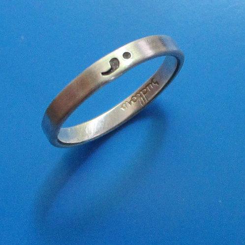 Semi Colon Ring