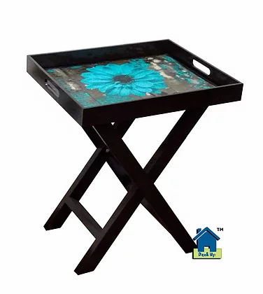 Butler Tray - Teal Picasso